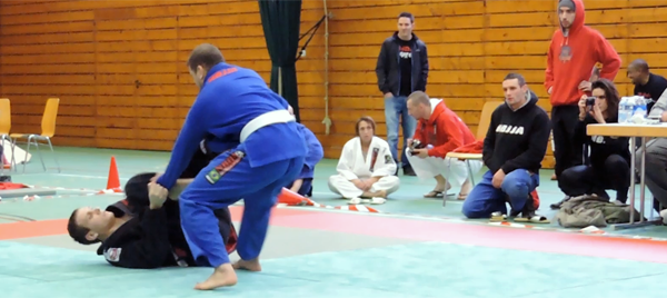 Working in the open guard
